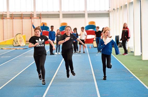 BBC Festival of Sport kicks off with school children taking part in various tasks at Aberdeen Sports Village.