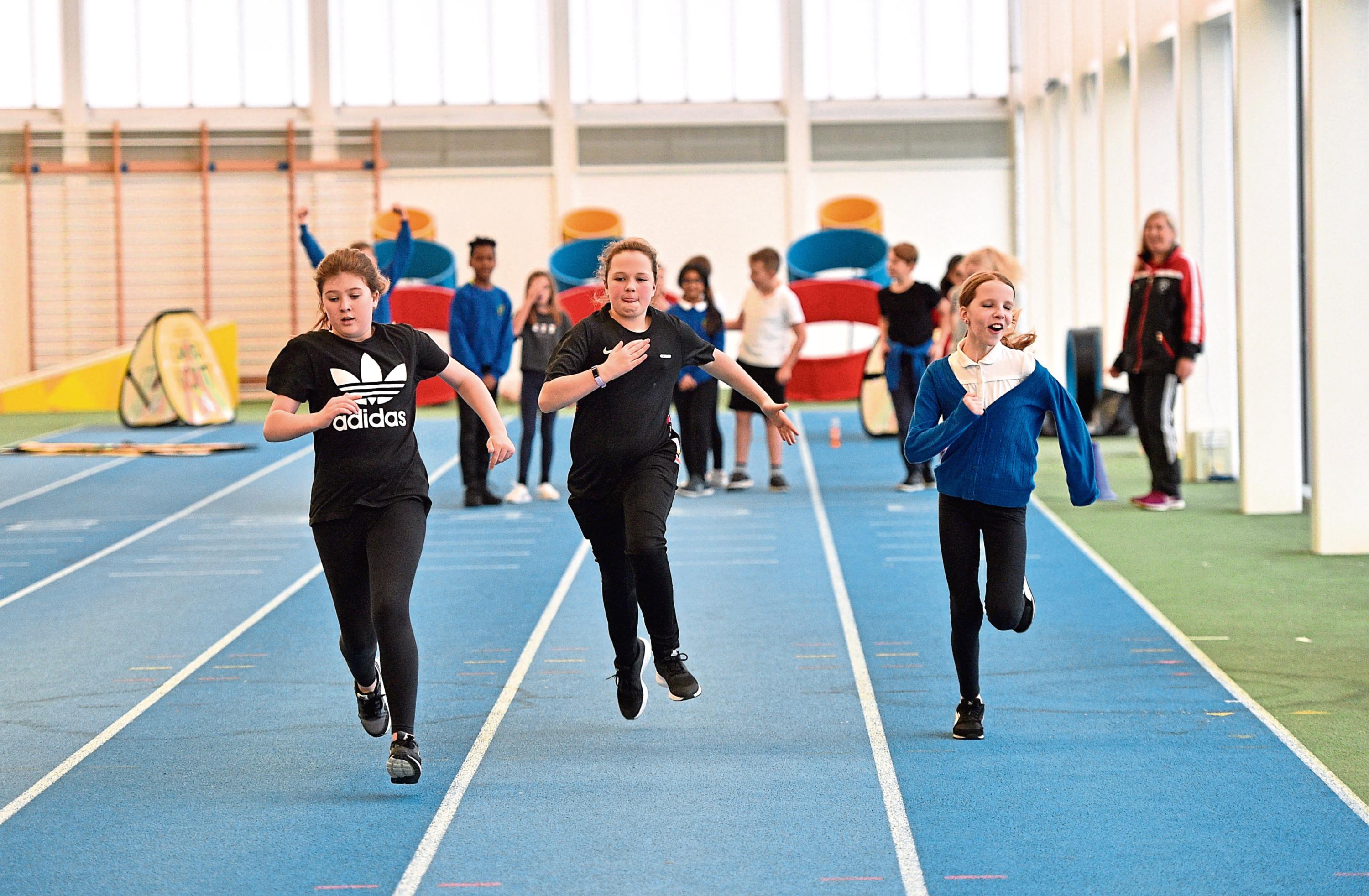BBC Festival of Sport kicks off with school children taking part in various tasks at Aberdeen Sports Village.