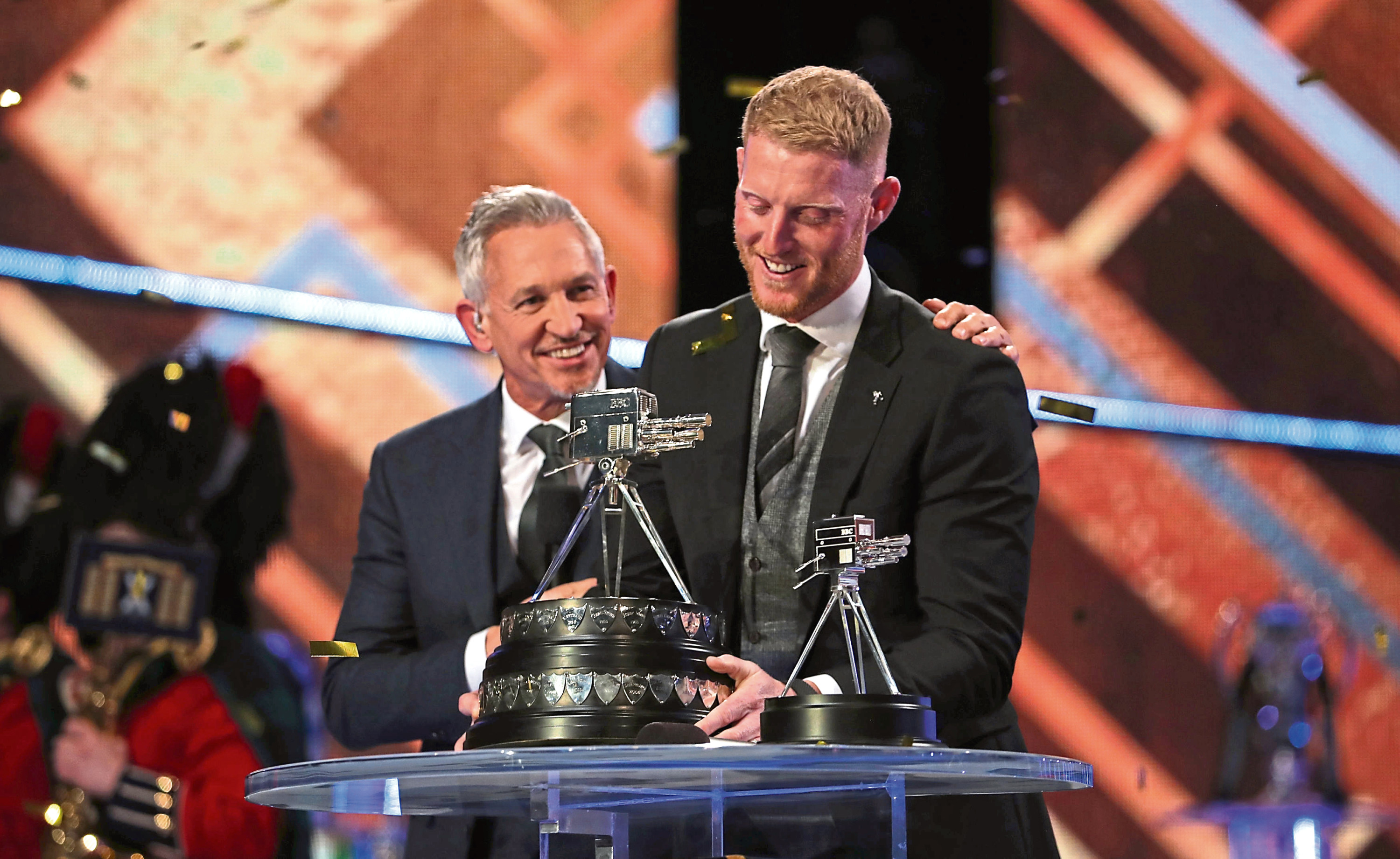 Ben Stokes poses with The BBC Sports Personality of the Year Award