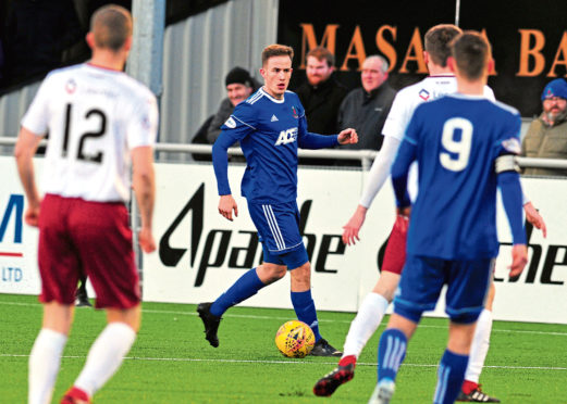 Tom Leighton of Cove Rangers. Picture by Jim Irvine