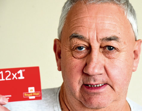 Family members told Dougie McConachy they had to pay to collect his Christmas cards due to the stamps