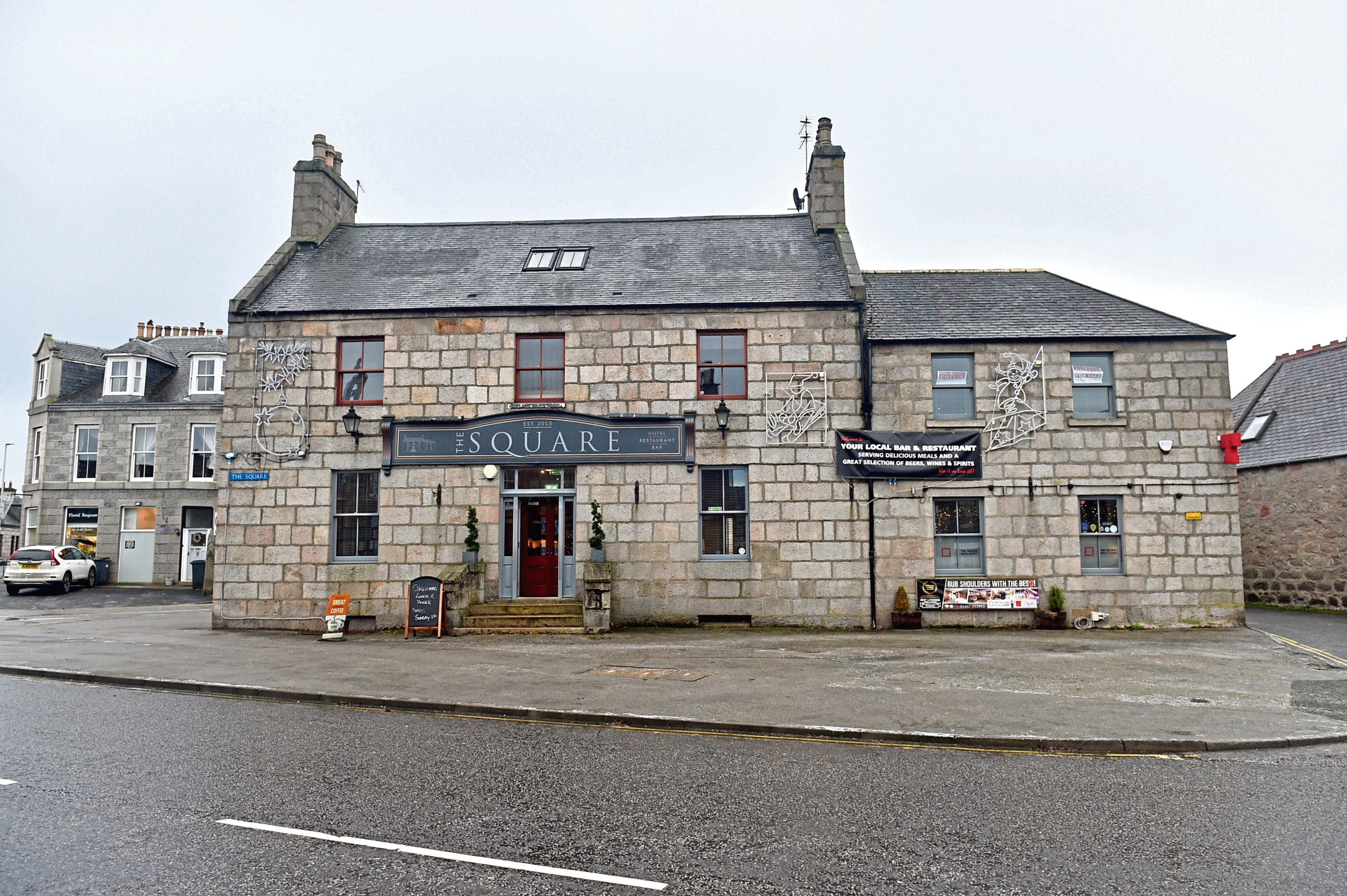The former function suite at the Kintore Arms Hotel is lying unused and the owners have submitted plans to build new flats at the site