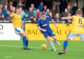 Cove's John Robertson on the ball. Picture by Kath Flannery