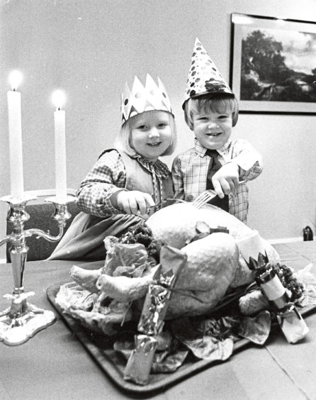 1982: Louise Dunbar and David Laird, both 4, of the Seaton Day Care Centre, Aberdeen
