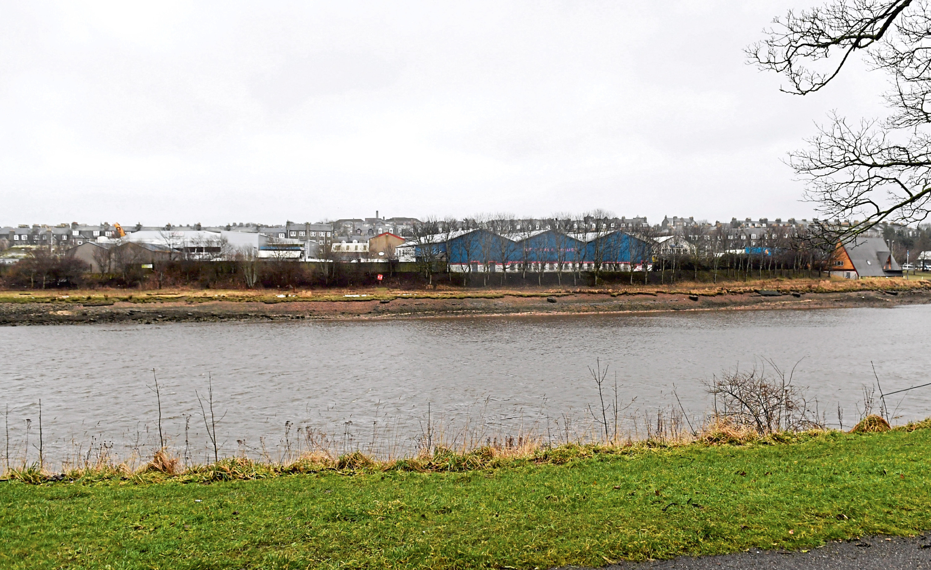The planned location for the new homes near the River Dee