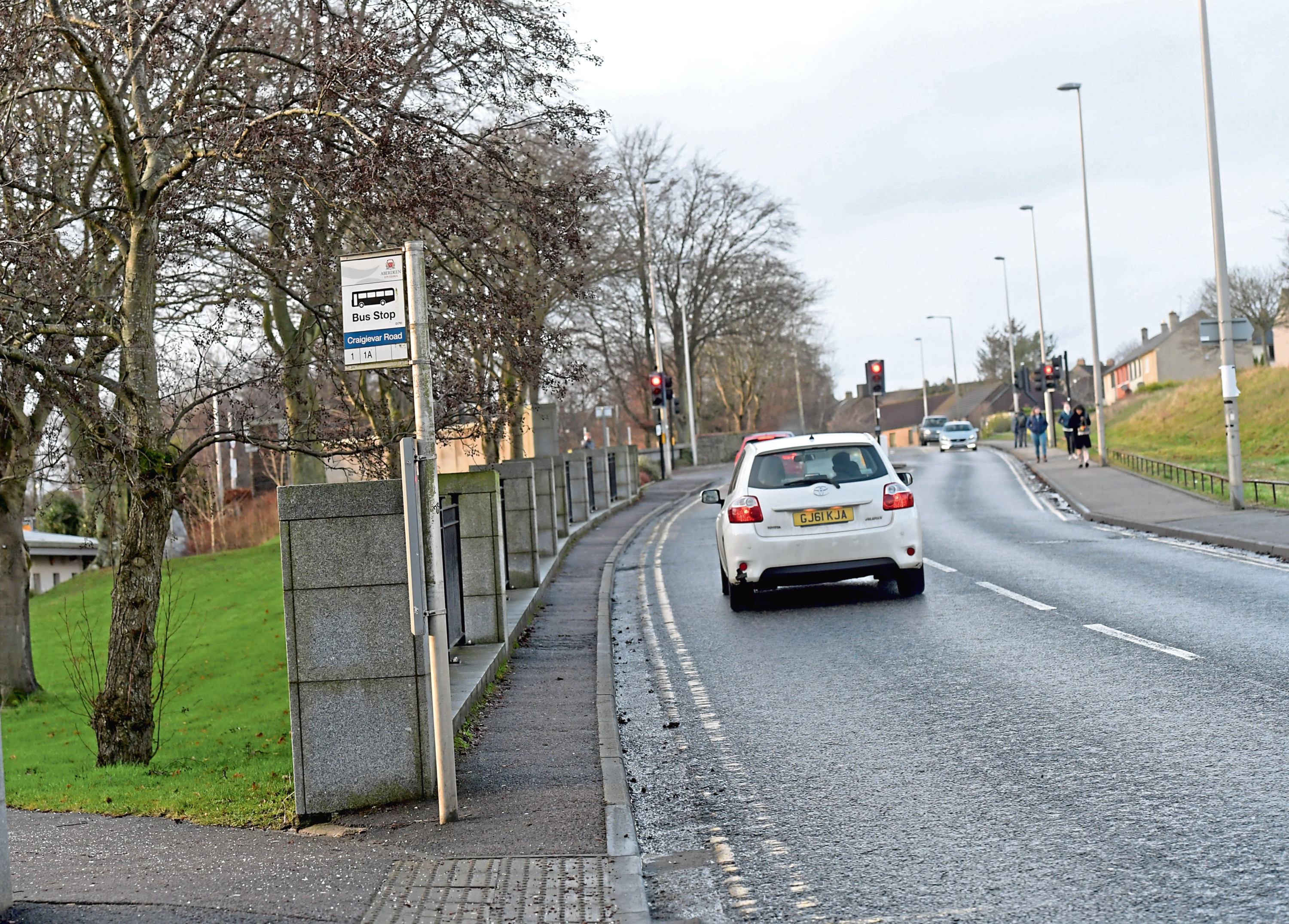 The Garthdee Road bus stop was removed five years ago and replaced with one inside the RGU campus