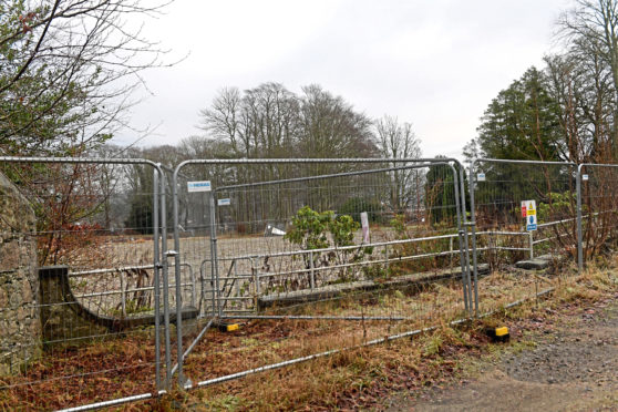The site where the fire-ravaged Blythewood Care Home used to stand
