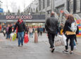 The Bon Accord Centre proved a popular destination as bargain-hunters pounded the pavements yesterday