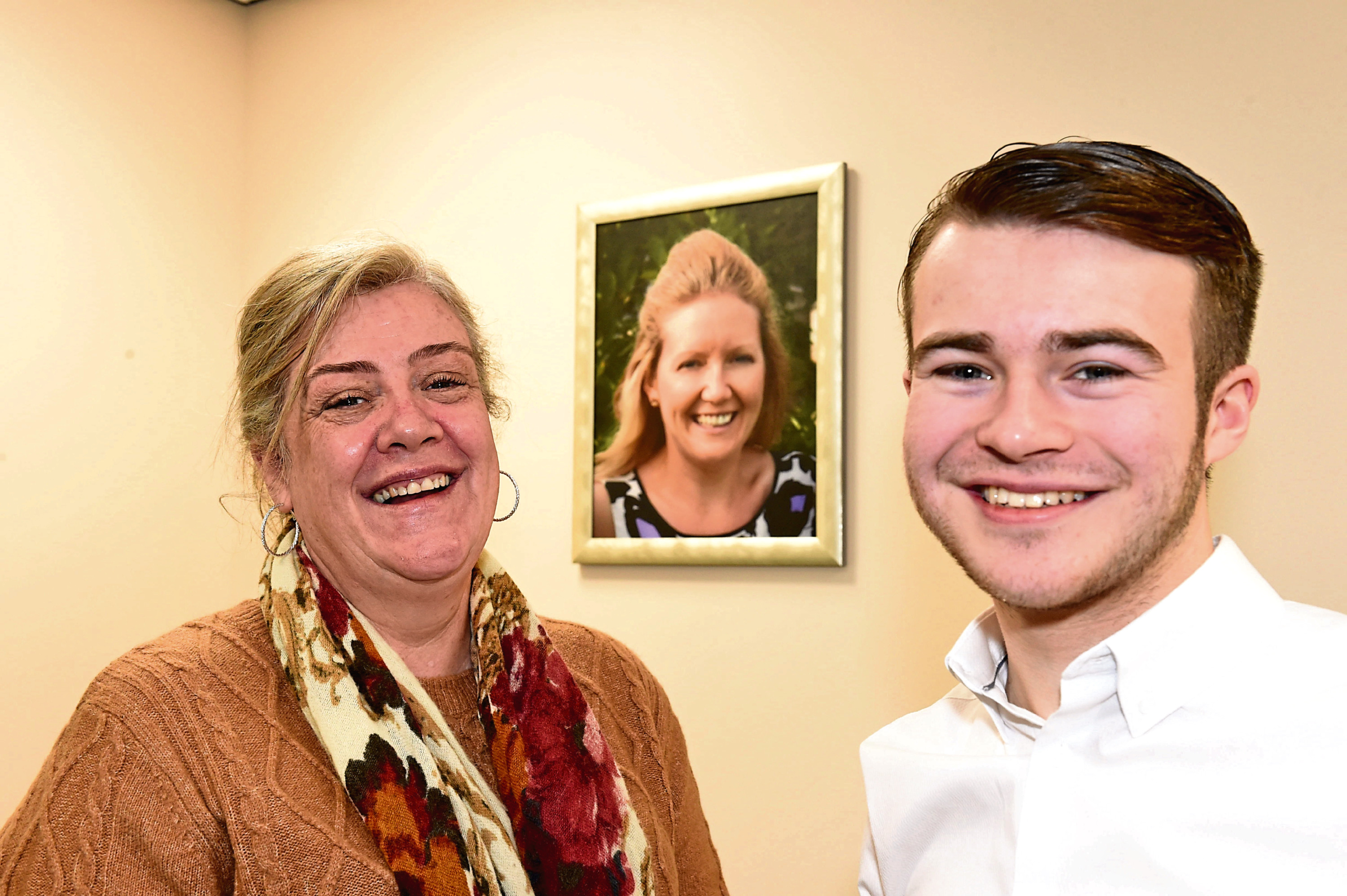 Shirley's Space manager Fiona Weir and service founder Cameron Findlay