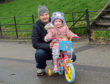 William with his grandaughter Amelia and her new bike