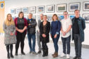 NESCol student winners with, far left, Stephanie Flynn, communications manager at Aberdeen Harbour Board and Steve Smith, photography lecturer.