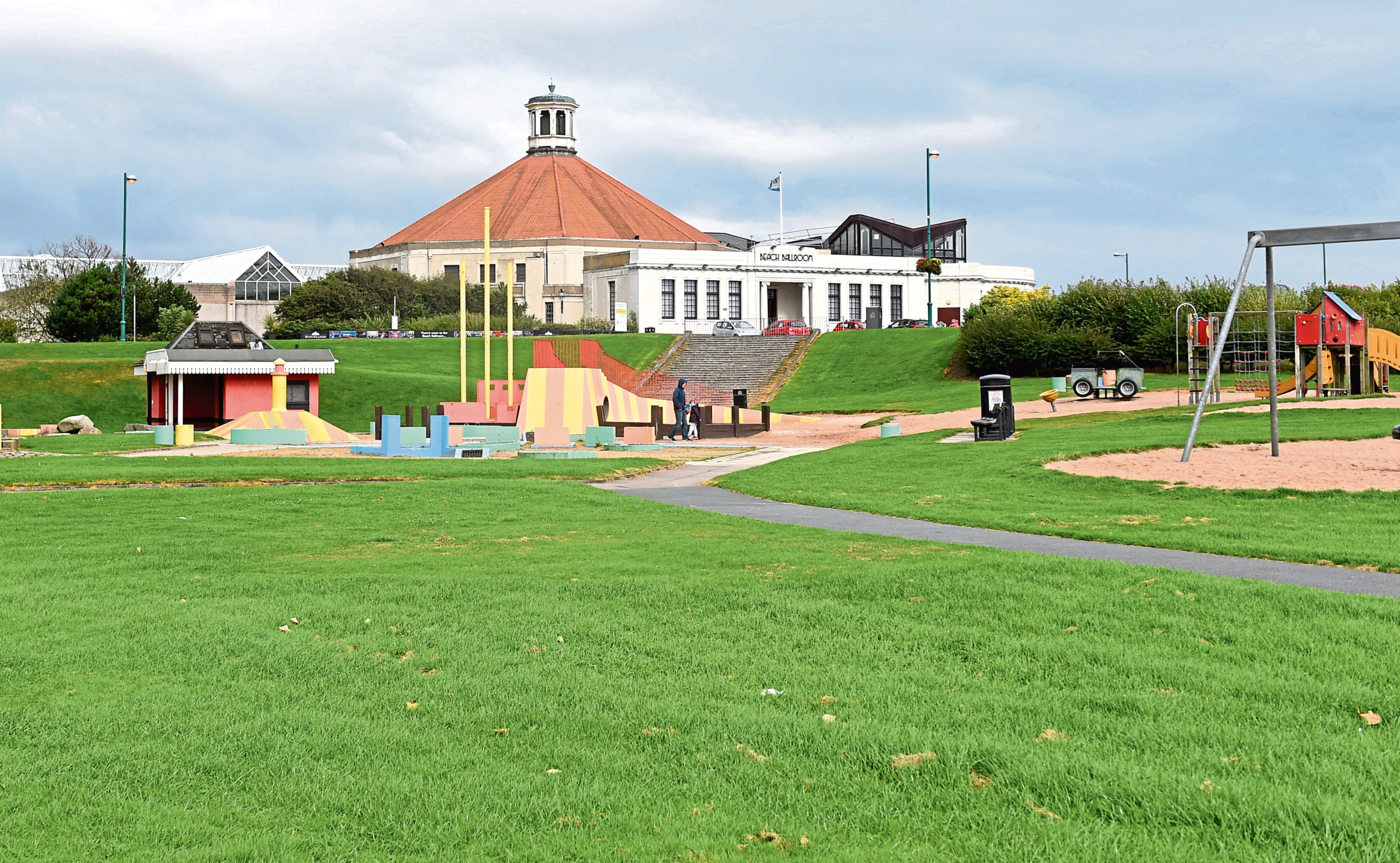 The park at Aberdeen beach is being revamped