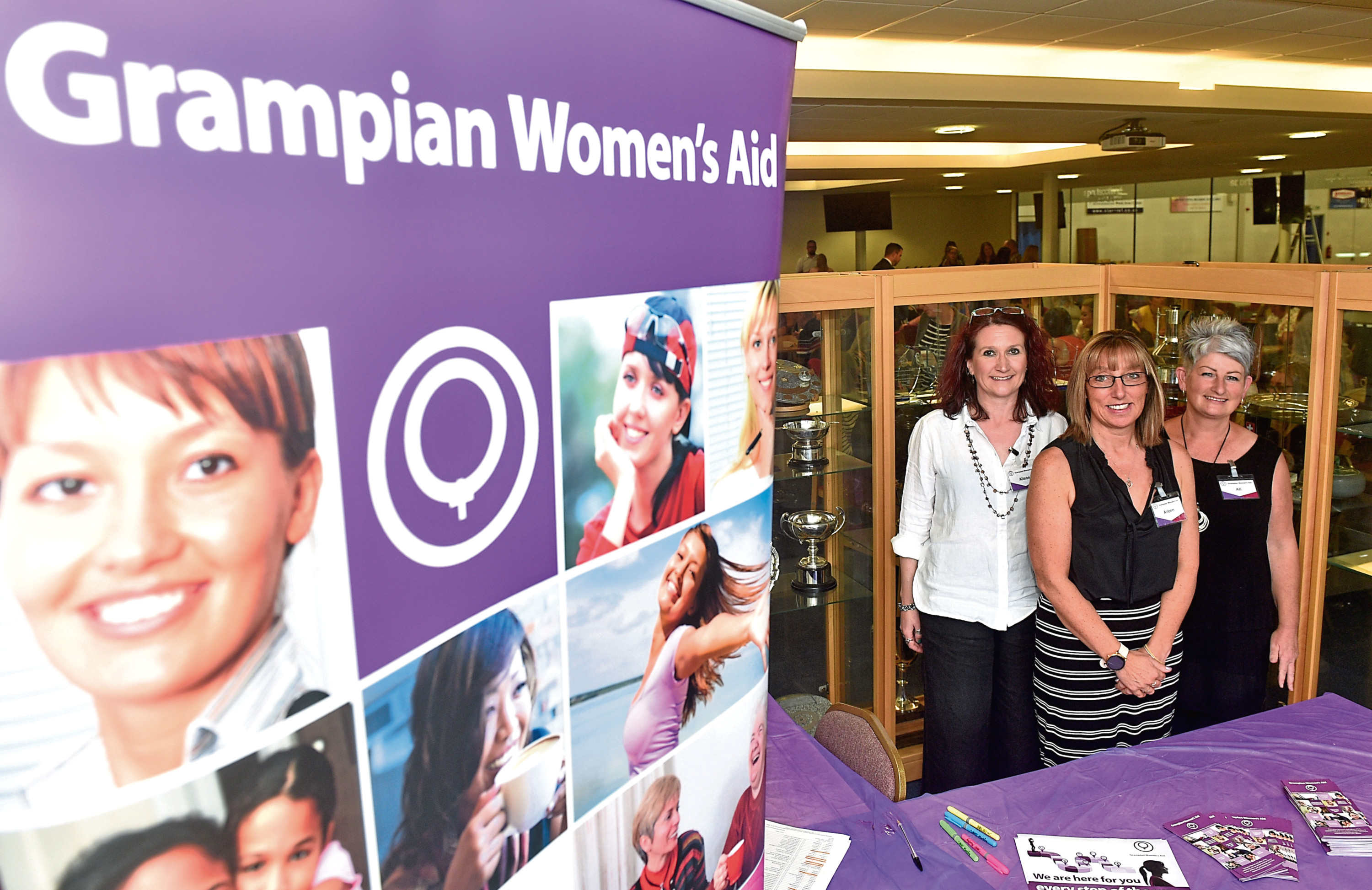 Grampian Women's Aid staff Ali MacKenzie, Aileen Forbes and Alison Hay are eager to see their campaign come to fruition