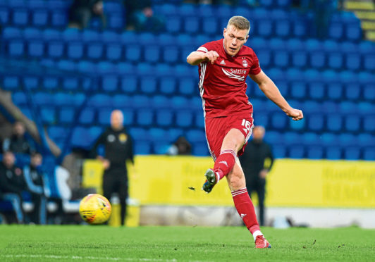 Sam Cosgrove won't be striking for Aberdeen against St Johnstone on Thursday as he's on the injury list.