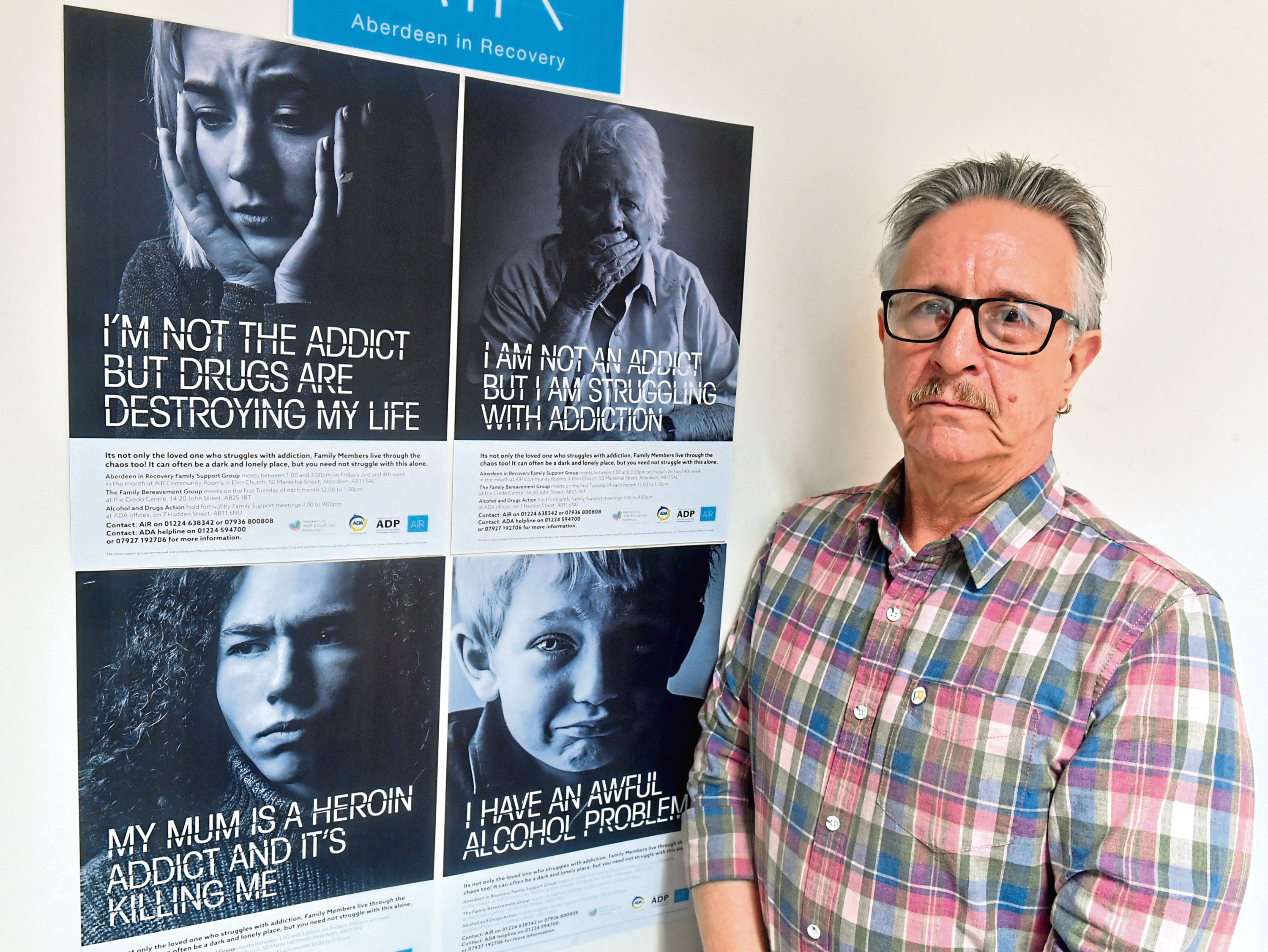 Aberdeen In Recovery community manager Dermot Craig backs a plan to provide safe injection rooms in the city Picture by Chris Sumner
