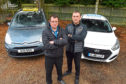 Duncan McKay, left, who works at Allways Taxis in Inverurie and Paul Anderson, managing director at Central Taxis, are not happy at the plans