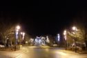 The lights in Turriff, before they were vandalised