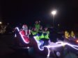 The Rotary Club of Dyce will be out with Santa tonight