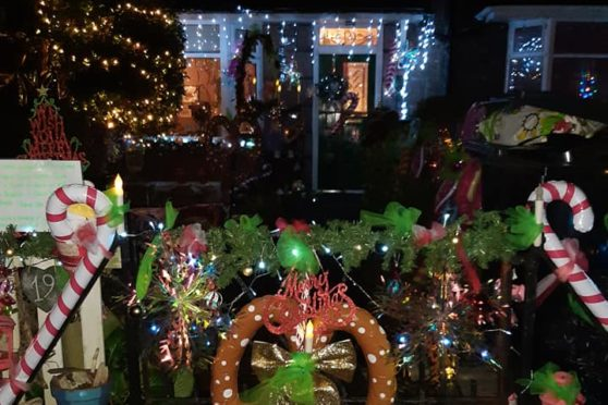 The property in Ferryhill has been decorated with sweet theme