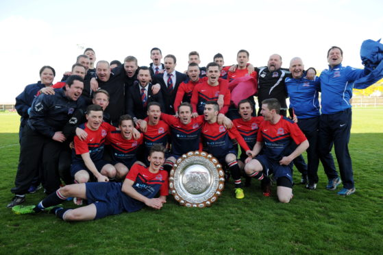 Turriff United, starring now-Fraserburgh midfielder Paul Young, won the Aberdeenshire Shield after a final against the Broch in 2015.