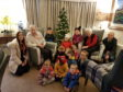 The event, held at Auchmacoy Lodge in Ellon, included a festive singalong and countdown to the lights being switched on.