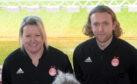 Emma Hunter and Harley Hamdani were Aberdeen co-managers last season.