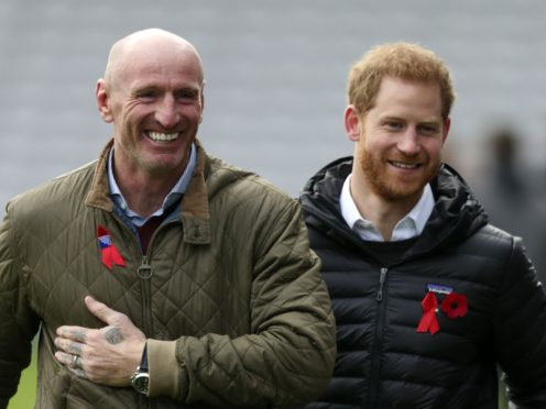 Gareth Thomas and Prince Harry