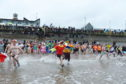 Fundraiser charged into the North Sea to raise cash for charity