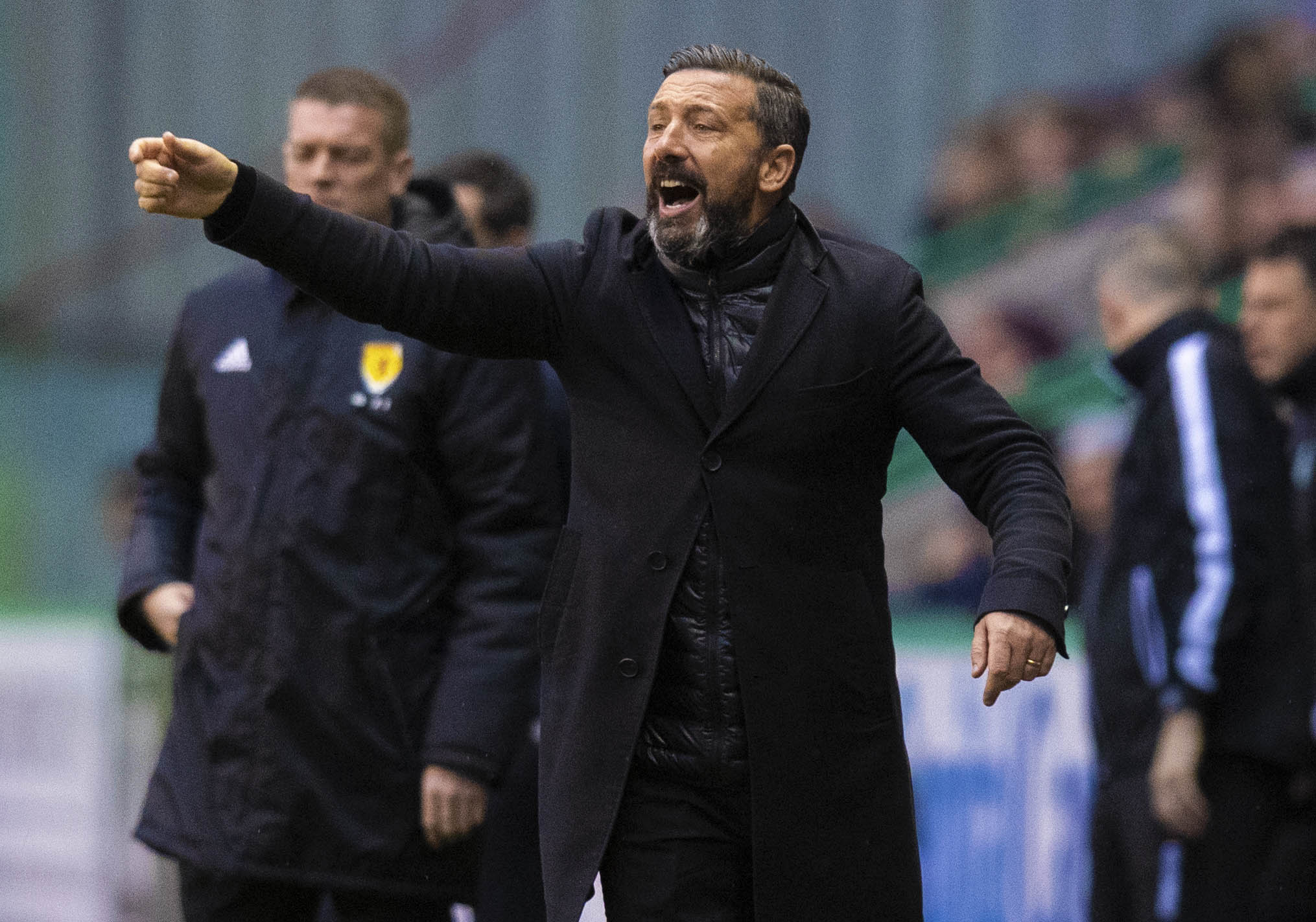 Aberdeen manager Derek McInnes at Easter Road.