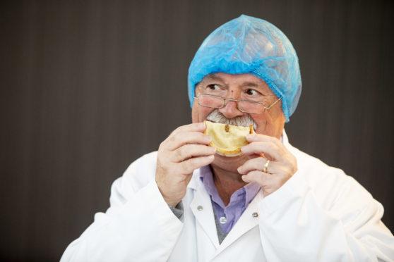 David Kyles judges at the 21st World Championship Scotch Pie Awards