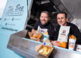 Calum Richardson from The Bay Fish and Chips and Findlay Leask from Caber Coffee