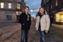 Jon S Baird and SNP's Paul Robertson in Peterhead