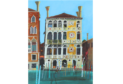 The painting of the Palazzo Dario in Venice