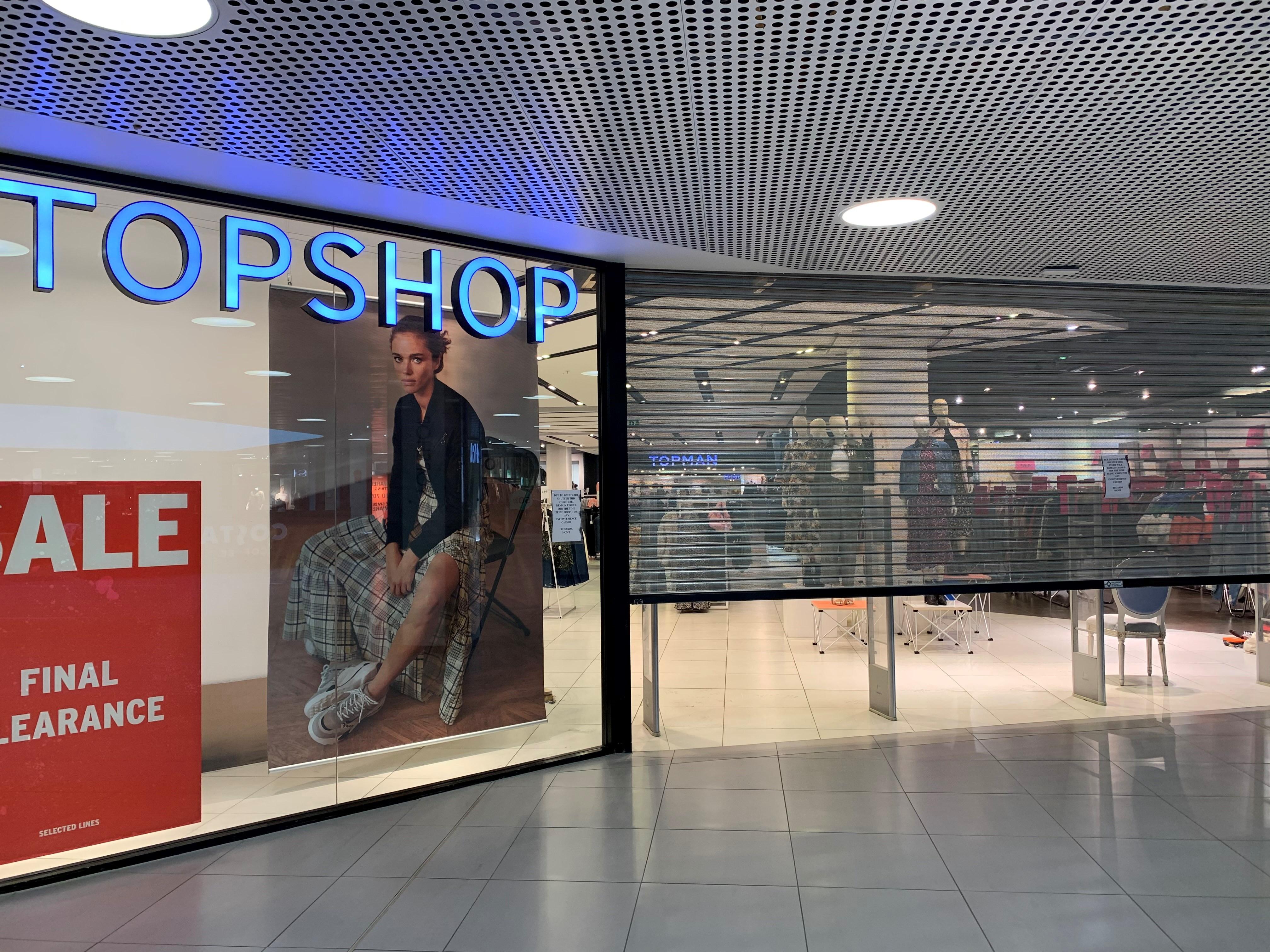 Topshop in the Bon Accord Centre