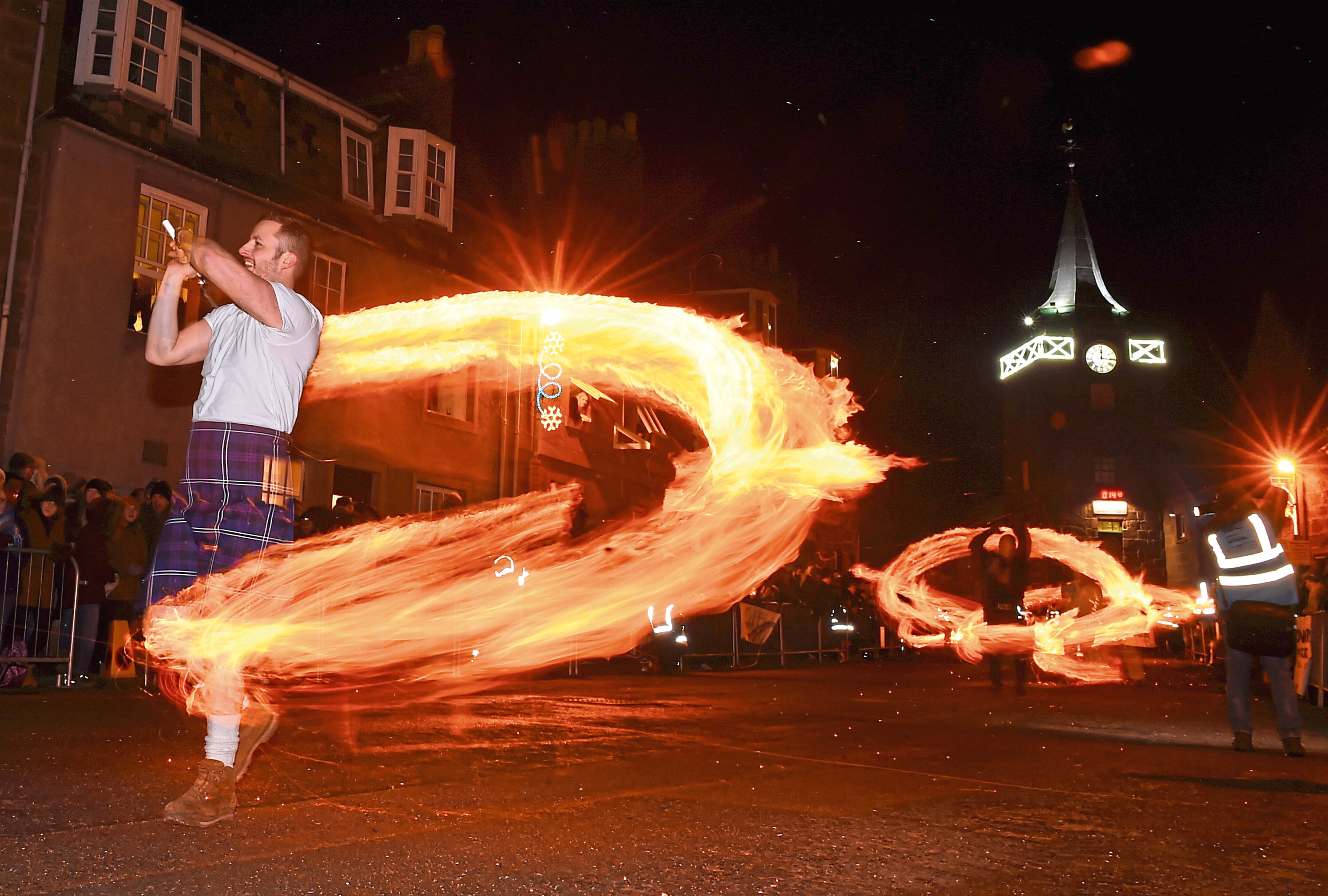 The Stonehaven fireballs event is a popular event in the north-east each Hogmanay