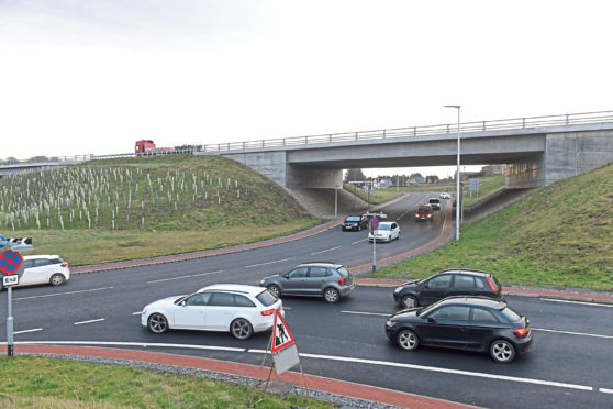 Upgrades were carried out at the Kingswells junction to improve traffic flow