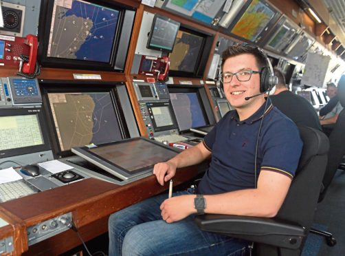 Adam Buttercase, an air traffic controller, originally wanted to be a pilot but loves the variety of his job