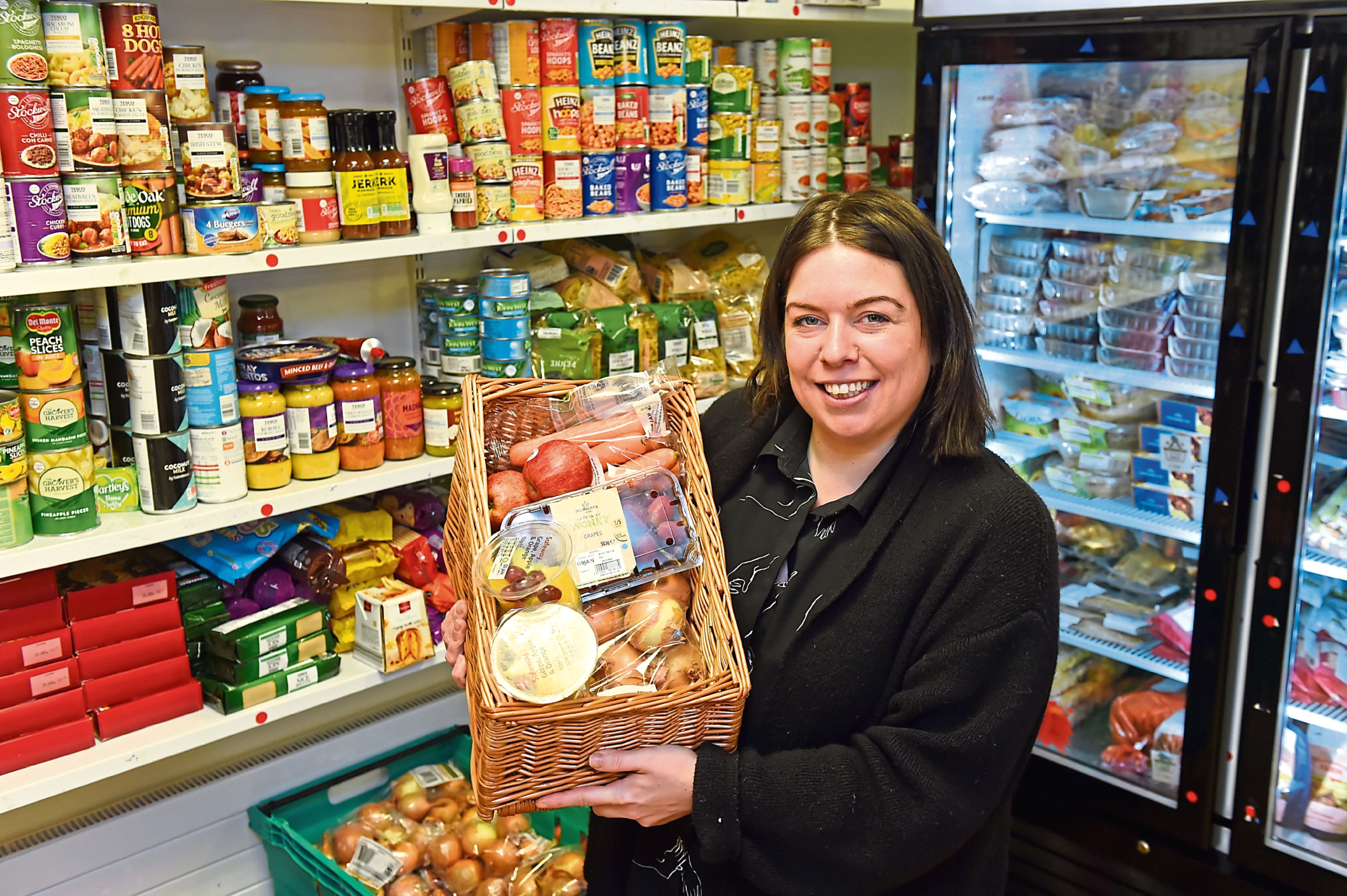Development worker Claire Whyte at Woodside Pantry