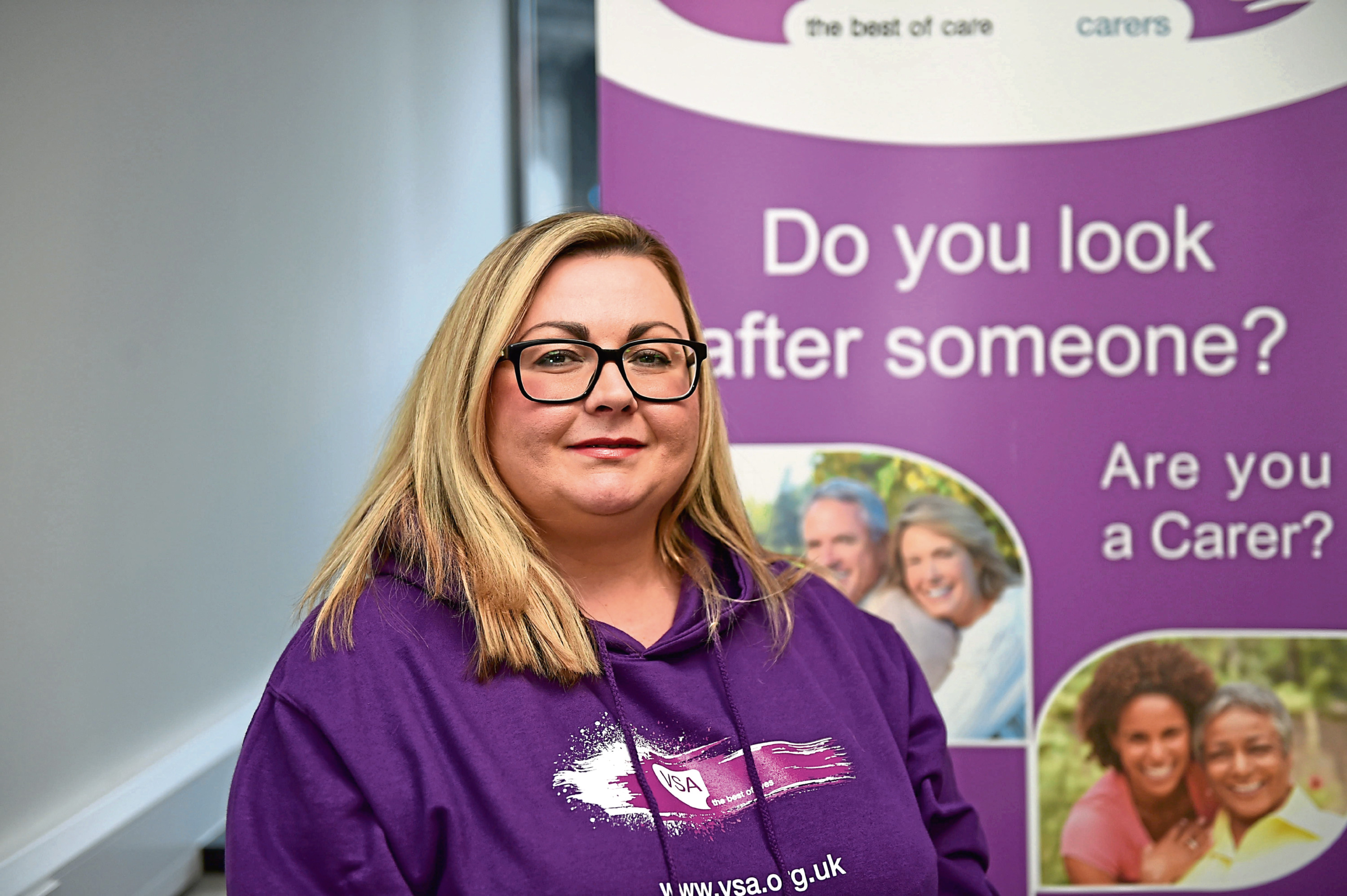 VSA's carers manager Jackie Campbell says the charity is on hand to provide support.