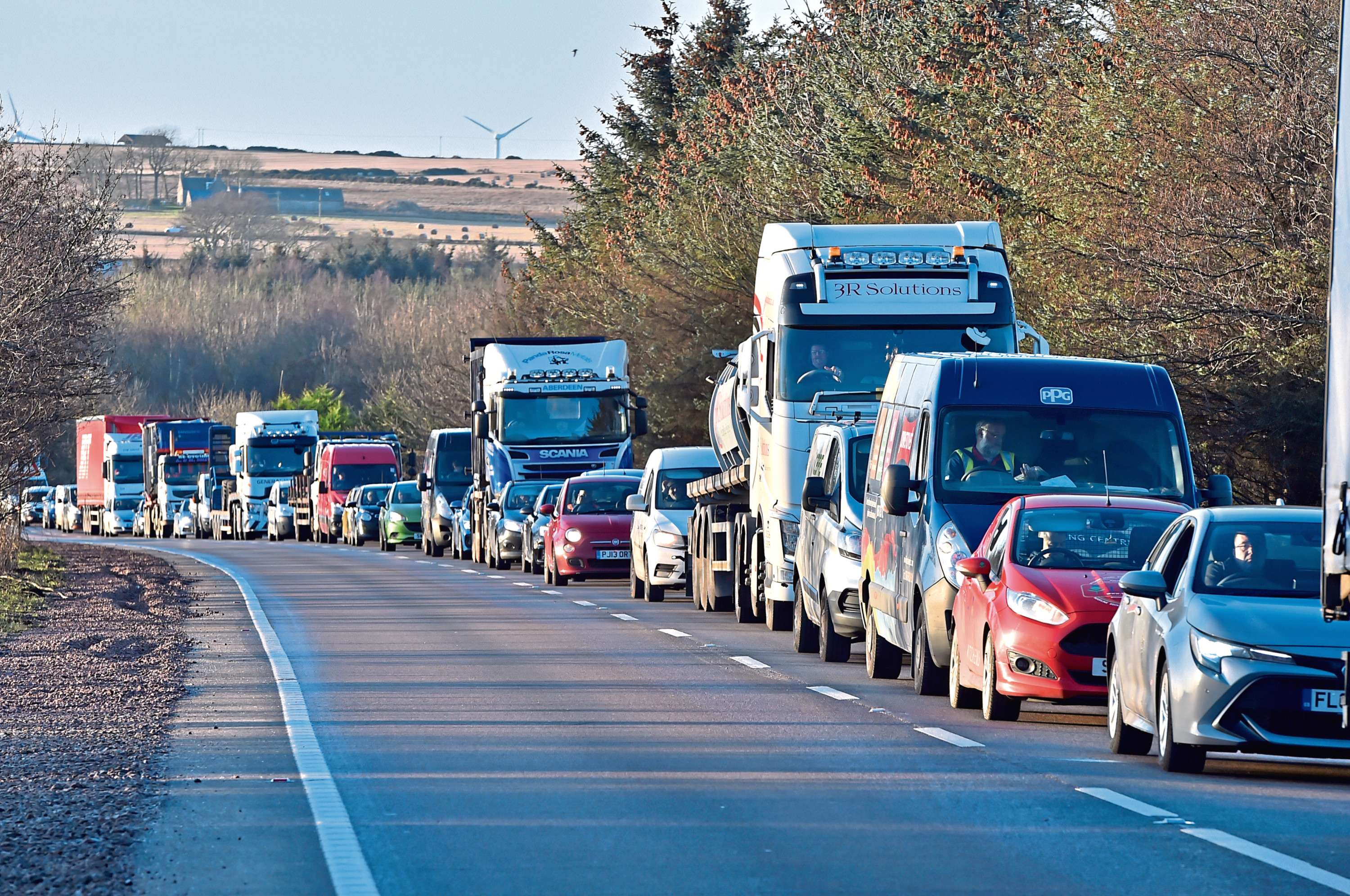 The roadworks have caused massive delays