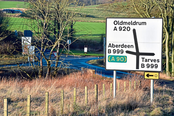 The junction between the B999 and the A920
