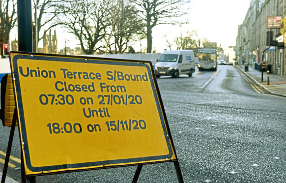 Union Terrace is going to be shut South bound towards union street for months