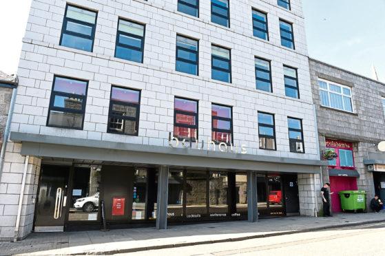 The former Bauhaus hotel in Aberdeen city centre