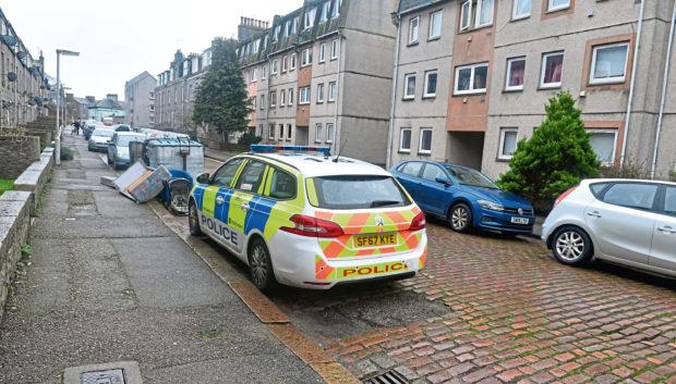 Police on Jute Street