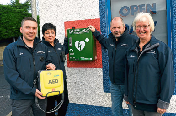 The Newmachar First Responders helped place defibrillators around the town and have been helping in the community for fifteen years