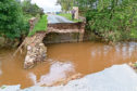 The bridge at Mill of Balmaud was washed away in the storm