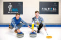 Pictured Paul Stevenson (GSS) and Bruce Mouat who are encouraging curlers to get checked