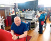 Paul O'Connor the Inchgarth centre manager in Peggy's Cafe