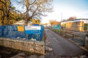 Photo of Gordon Primary school Huntly, Aberdeenshire.  The School is having major building work carried out.    Photo by Michael Traill 9 South Road Rhynie Huntly AB54 4GA  Contact numbers Mob07739 38 4792