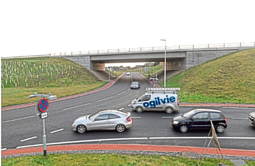 The Kingswells South roundabout, where the A944 meets the AWPR, has been the scene of a number of near misses